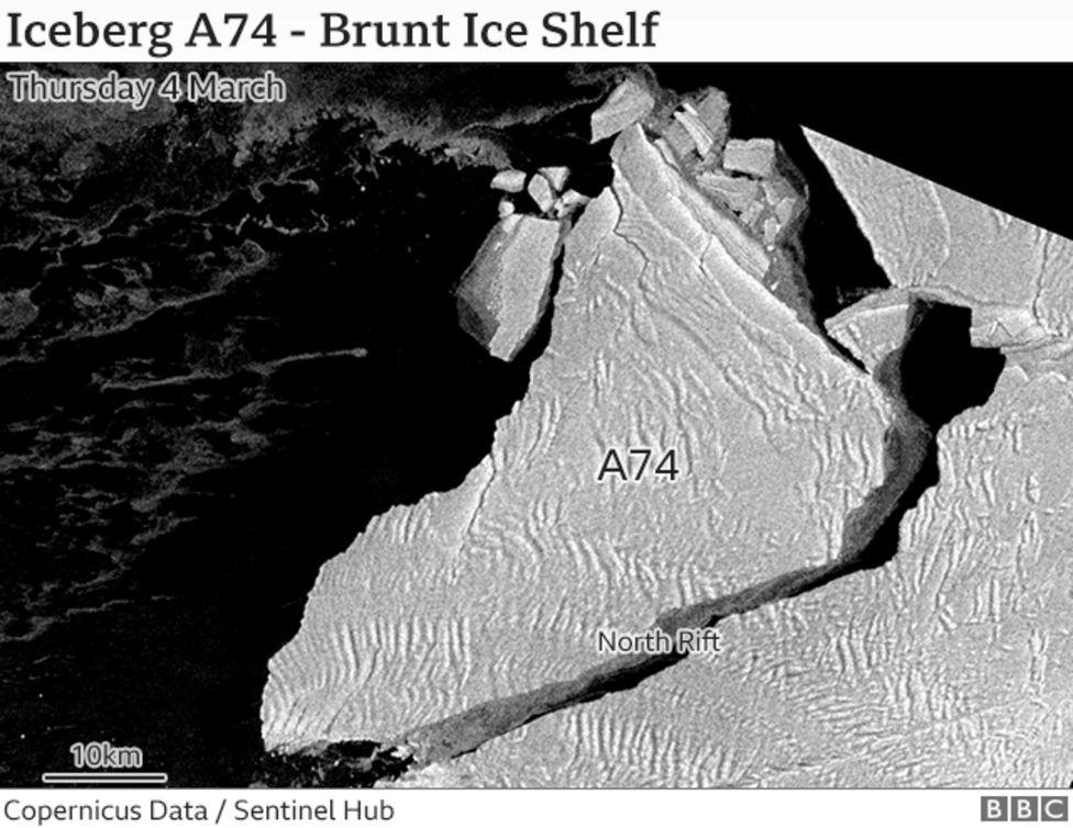 Ширина прірви - 2 км: з'явилося фото гігантської тріщини льоду в Антарктиді - фото 4