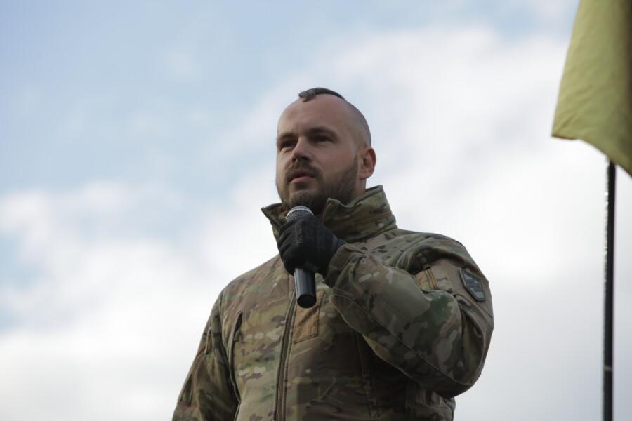 В Киеве состоялся Марш Нации с участием Нацкорпуса - фото 7