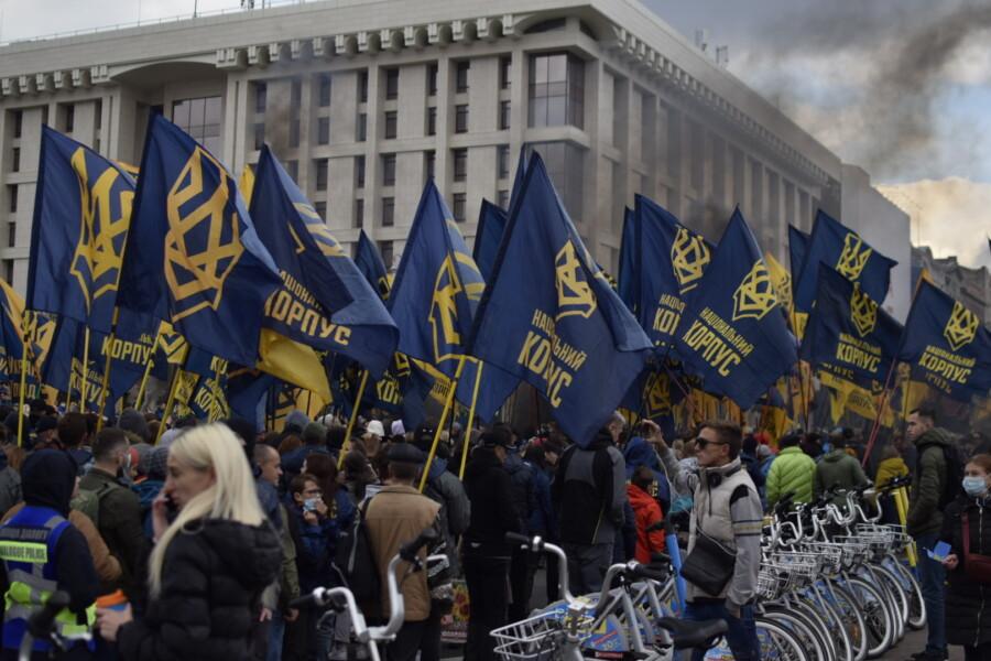 В Киеве состоялся Марш Нации с участием Нацкорпуса - фото 4