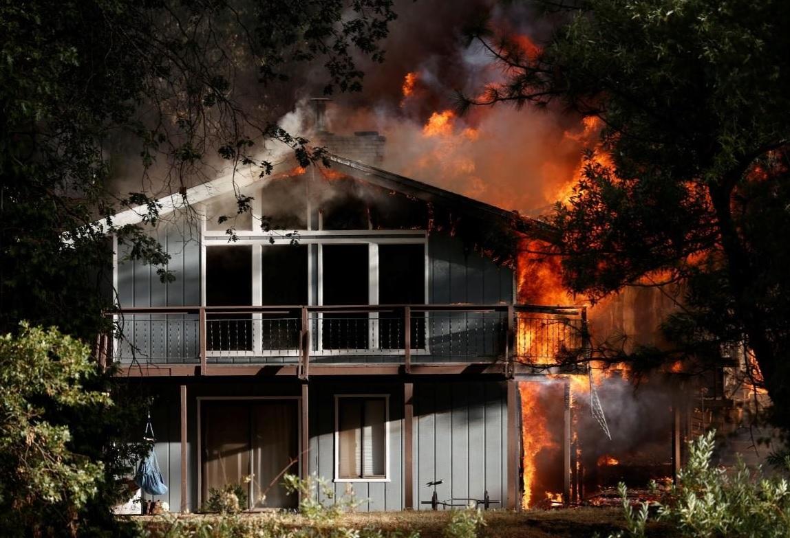В США продолжают бушевать лесные пожары: огонь вытесняет людей из своих домов (ФОТО) - фото 2