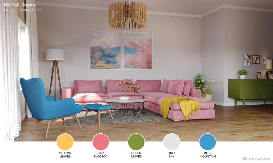 Дизайн гостиной по мотивам захватывающих пейзажей: 6 потрясающих фото - фото 7