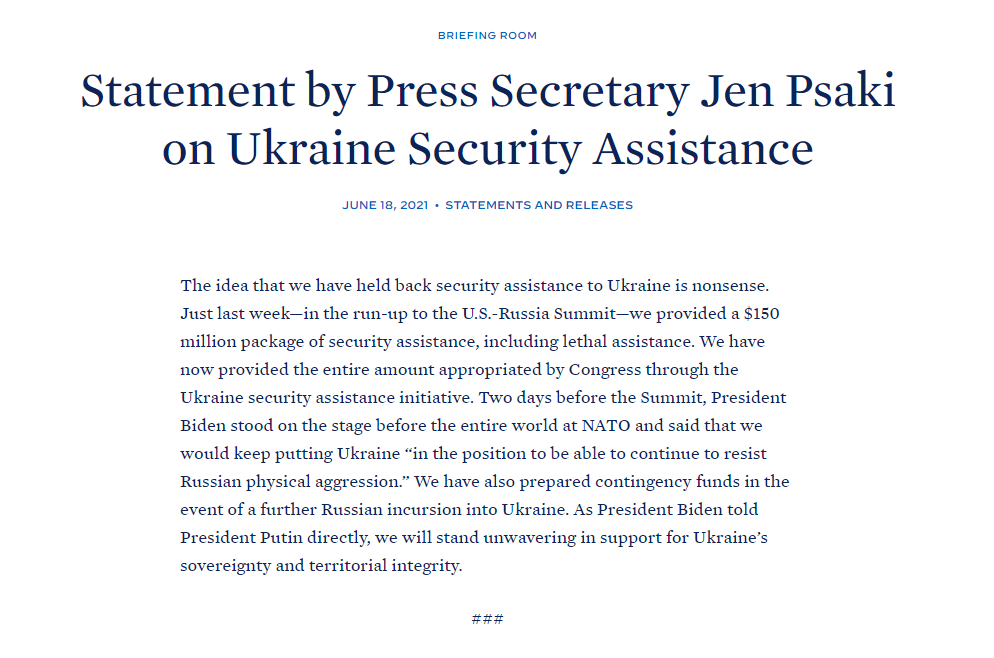 «Замороження» військової допомоги Україні від США: що повідомили в Білому Домі - фото 2