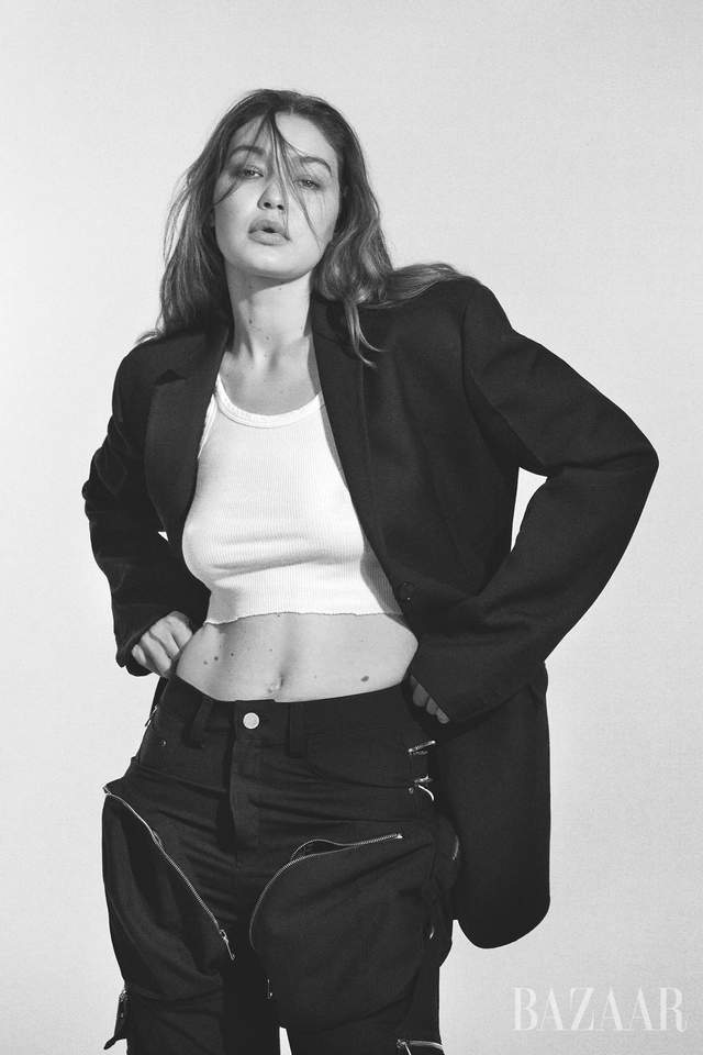Джиджи Хадид перевоплотилась в офисного сотрудника для обложки Harper's Bazaar - фото 4