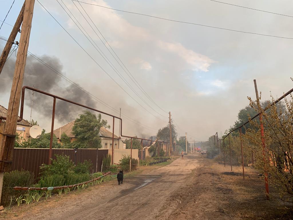 Пожары в Луганской области: устрашающие фото масштабного огня - фото 15