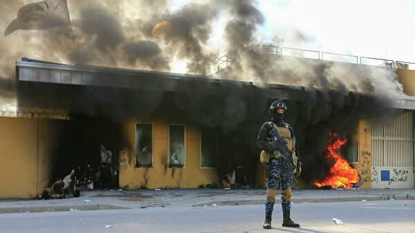 ВБагдаде около посольства США упали три ракеты