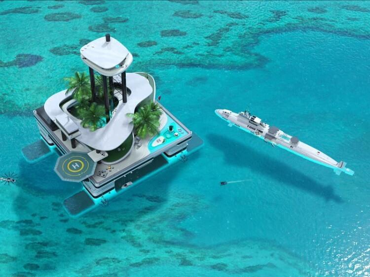 Плавающие острова приходят на смену роскошным яхтам - фото 2