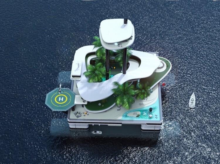 Плавающие острова приходят на смену роскошным яхтам - фото 3