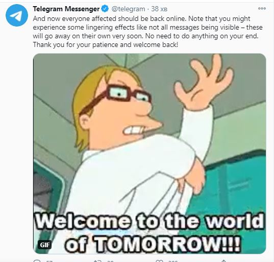 Telegram сообщил о сбоях в работе на территории Европы и Ближнего Востока - фото 4
