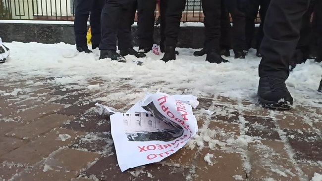 В Киеве сорвали акцию в поддержку Навального (фото, видео) - фото 5