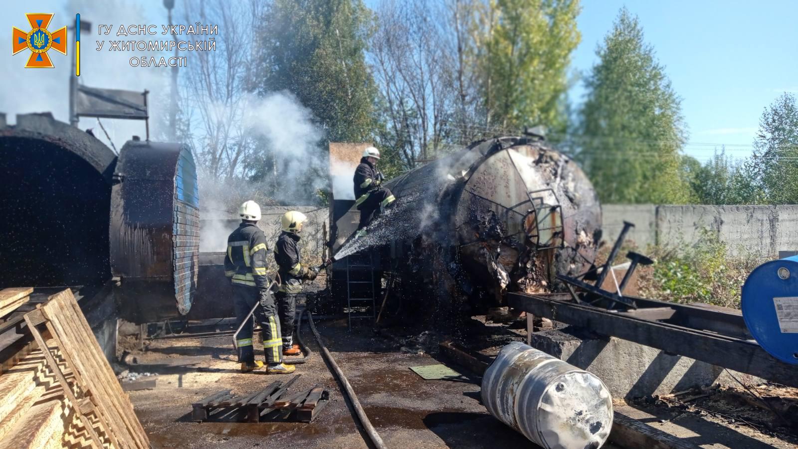 У Житомирі на підприємстві вибухнула бочка з паливом: є постраждалі (ФОТО) - фото 2