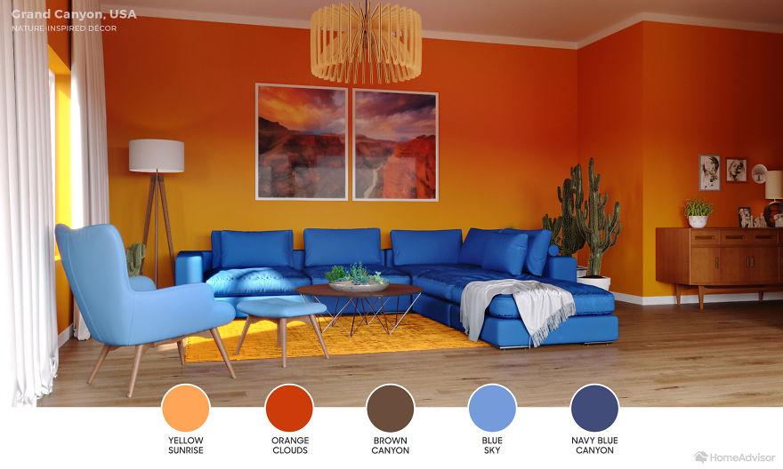 Дизайн гостиной по мотивам захватывающих пейзажей: 6 потрясающих фото - фото 3