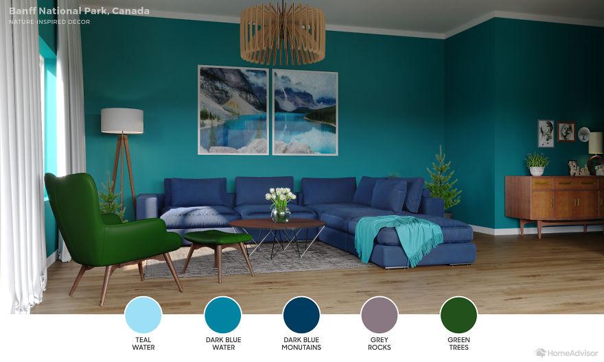 Дизайн гостиной по мотивам захватывающих пейзажей: 6 потрясающих фото - фото 9