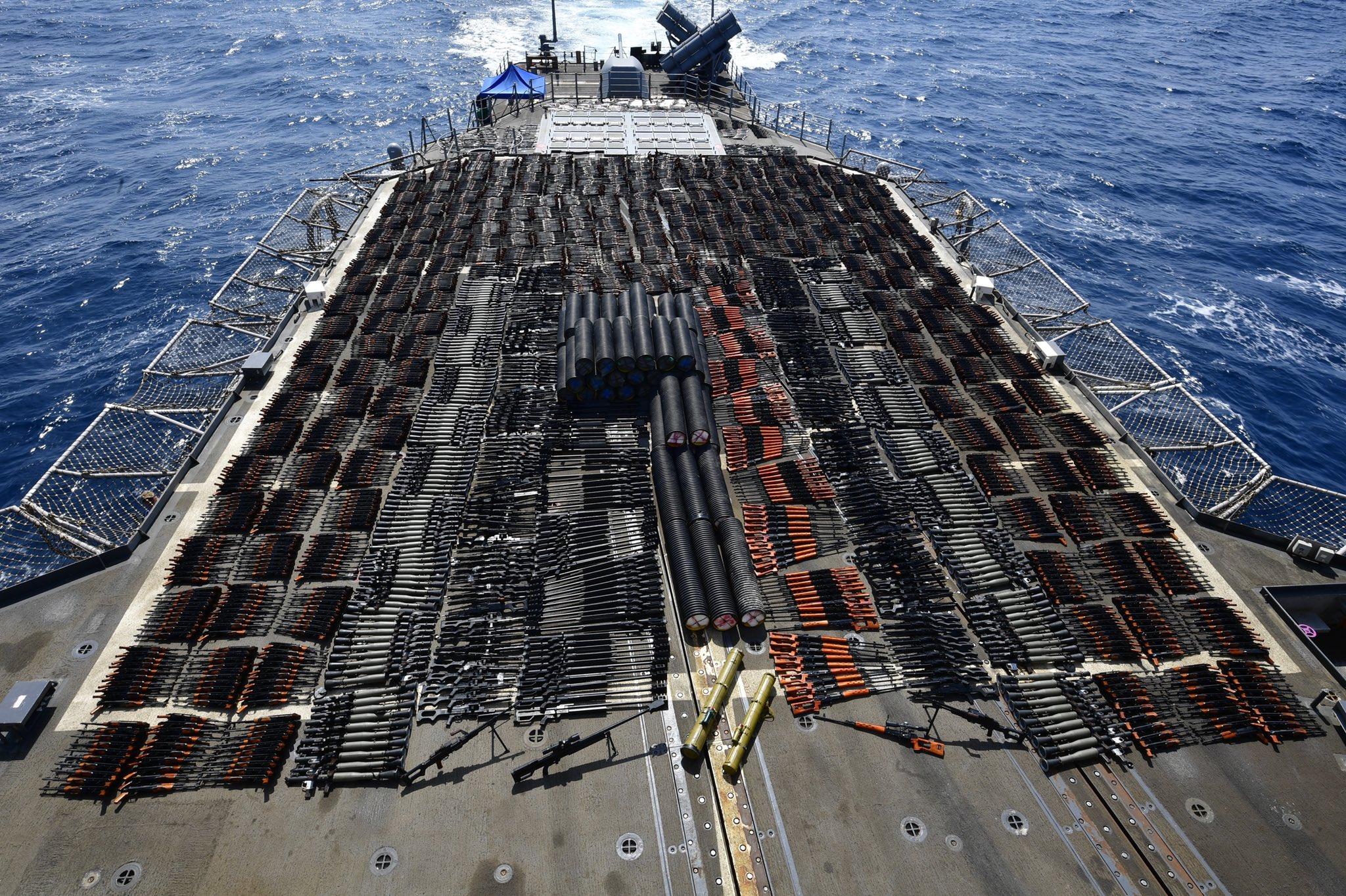 Американские военные задержали судно с крупной партией российского оружия - детали (Фото) - фото 3