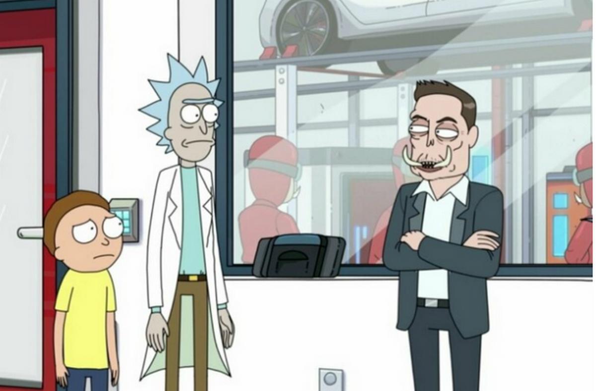 Картинки по запросу Илон Маск в мультсериале «Рик и Морти». Смотреть