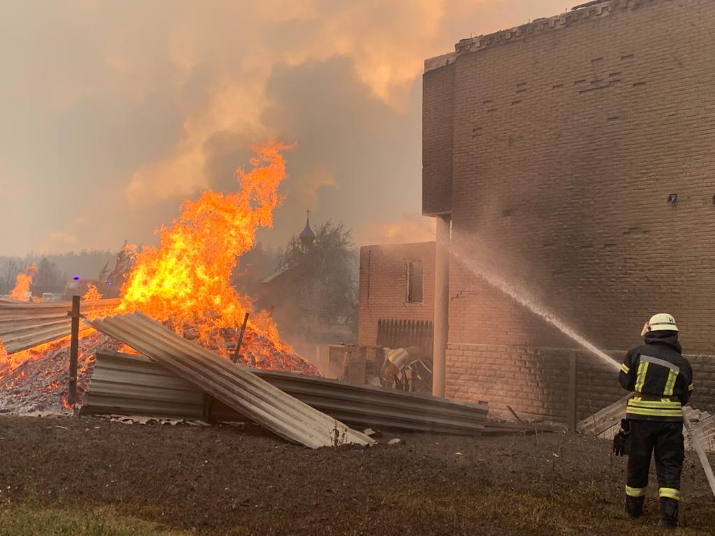 Пожары в Луганской области: устрашающие фото масштабного огня - фото 14