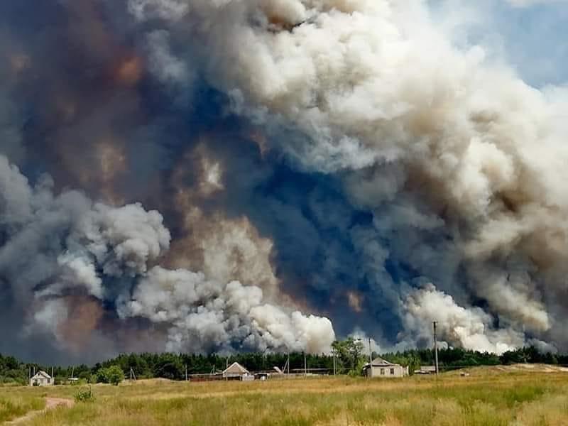 Пожары в Луганской области: устрашающие фото масштабного огня - фото 2