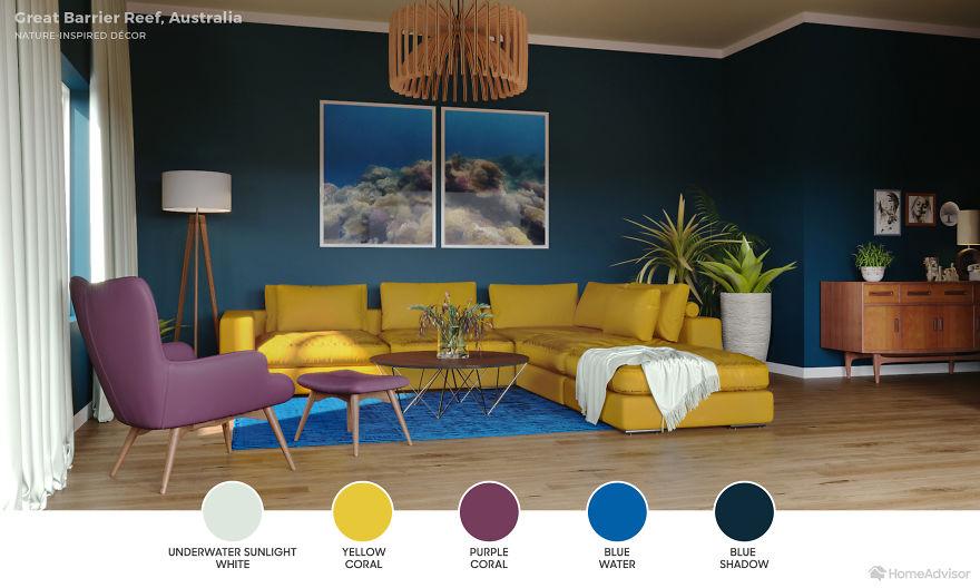 Дизайн гостиной по мотивам захватывающих пейзажей: 6 потрясающих фото - фото 11