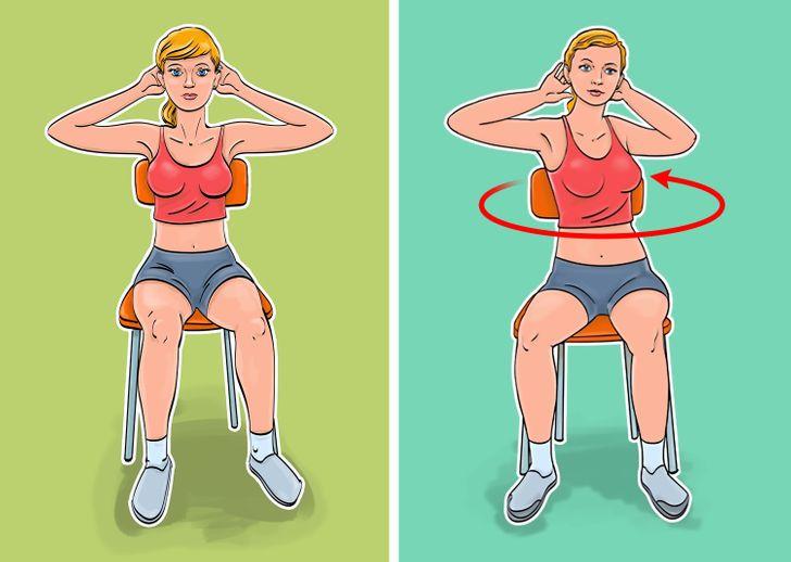 Как сделать плоским живот, не ставая со стула: упражнения - фото 3