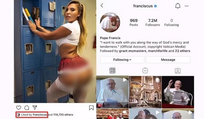 Папа Римский «лайкнул» фотографию полуобнаженной модели - фото 2