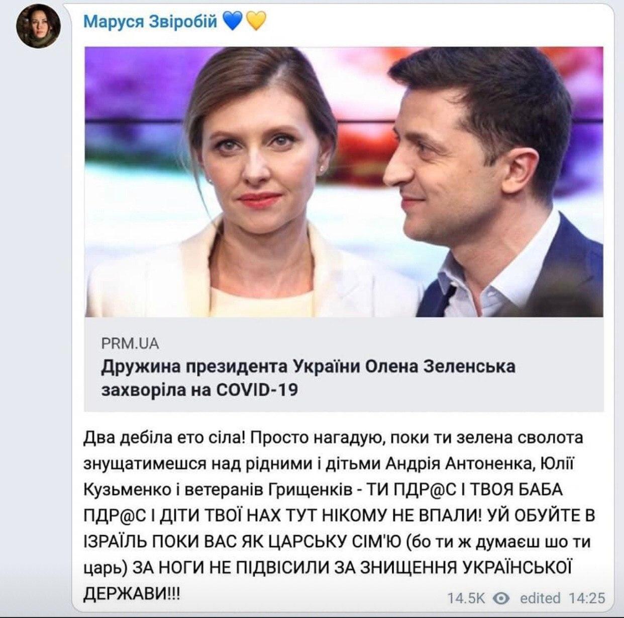 """Звіробій написала антисемітський пост, Федина запідозрила в цьому """"руку Кремля"""" - фото 2"""