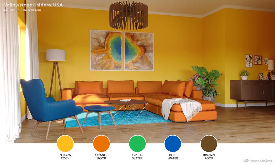 Дизайн гостиной по мотивам захватывающих пейзажей: 6 потрясающих фото - фото 5