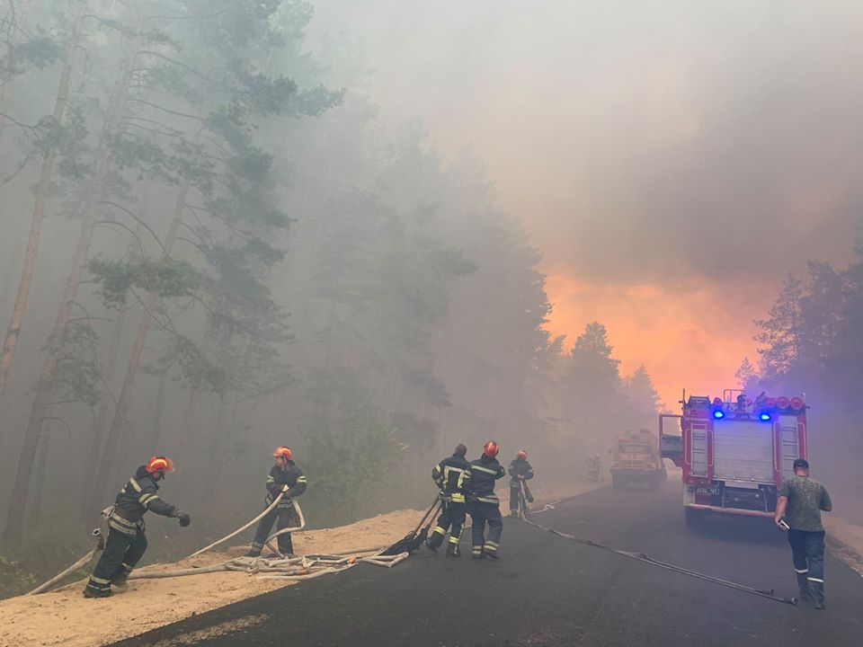 Пожары в Луганской области: устрашающие фото масштабного огня - фото 7