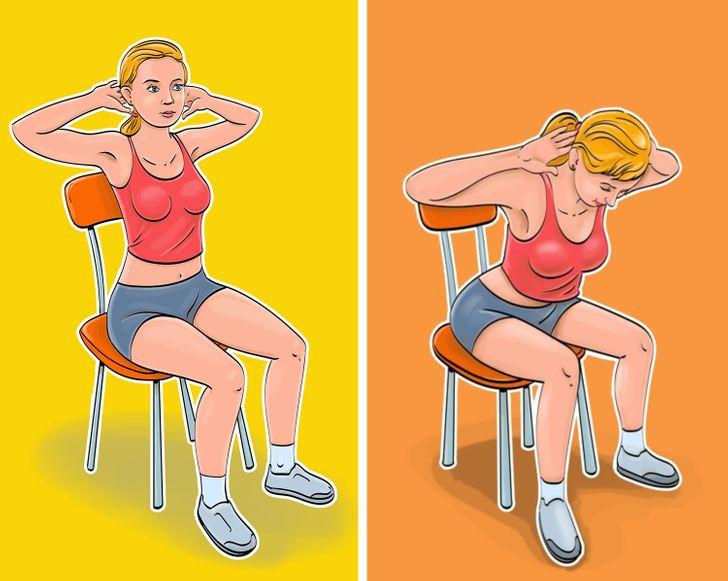 Как сделать плоским живот, не ставая со стула: упражнения - фото 4