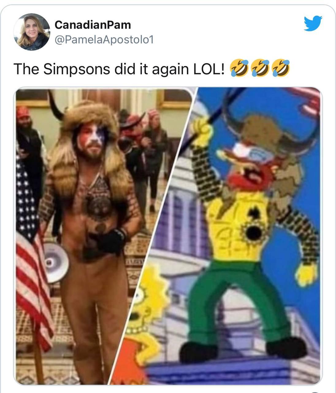 Сімпсони знову передбачили майбутнє - на цей раз штурм Капітолію США - фото 2