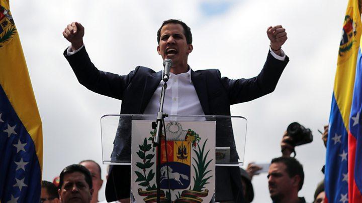 Гуайдо выступил против присутствия военных кораблей РФ в водах Венесуэ