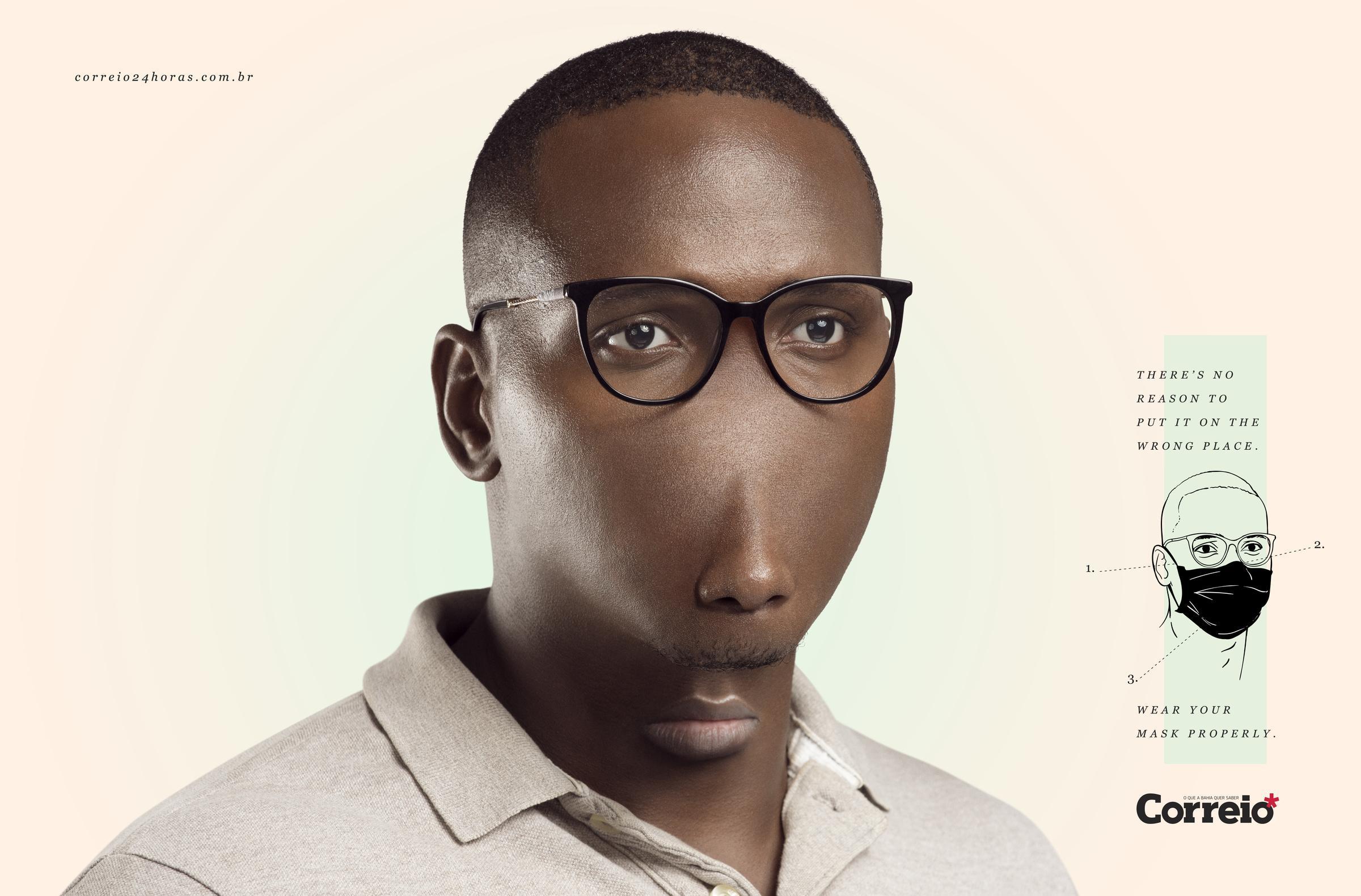 ФОТОФАКТ: социальная реклама в Бразилии метко высмеяла людей, которые носят маску на подбородке - фото 3