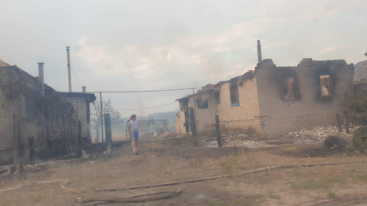 Пожары в Луганской области: устрашающие фото масштабного огня - фото 8
