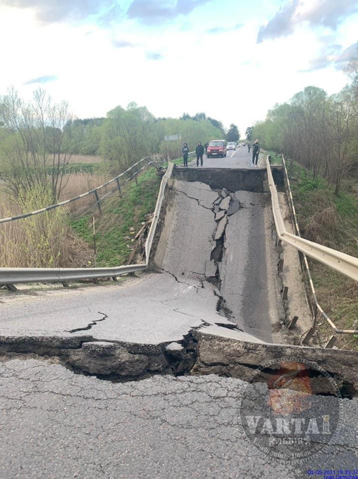 На трассе Львов — Луцк обвалился мост - фото 2