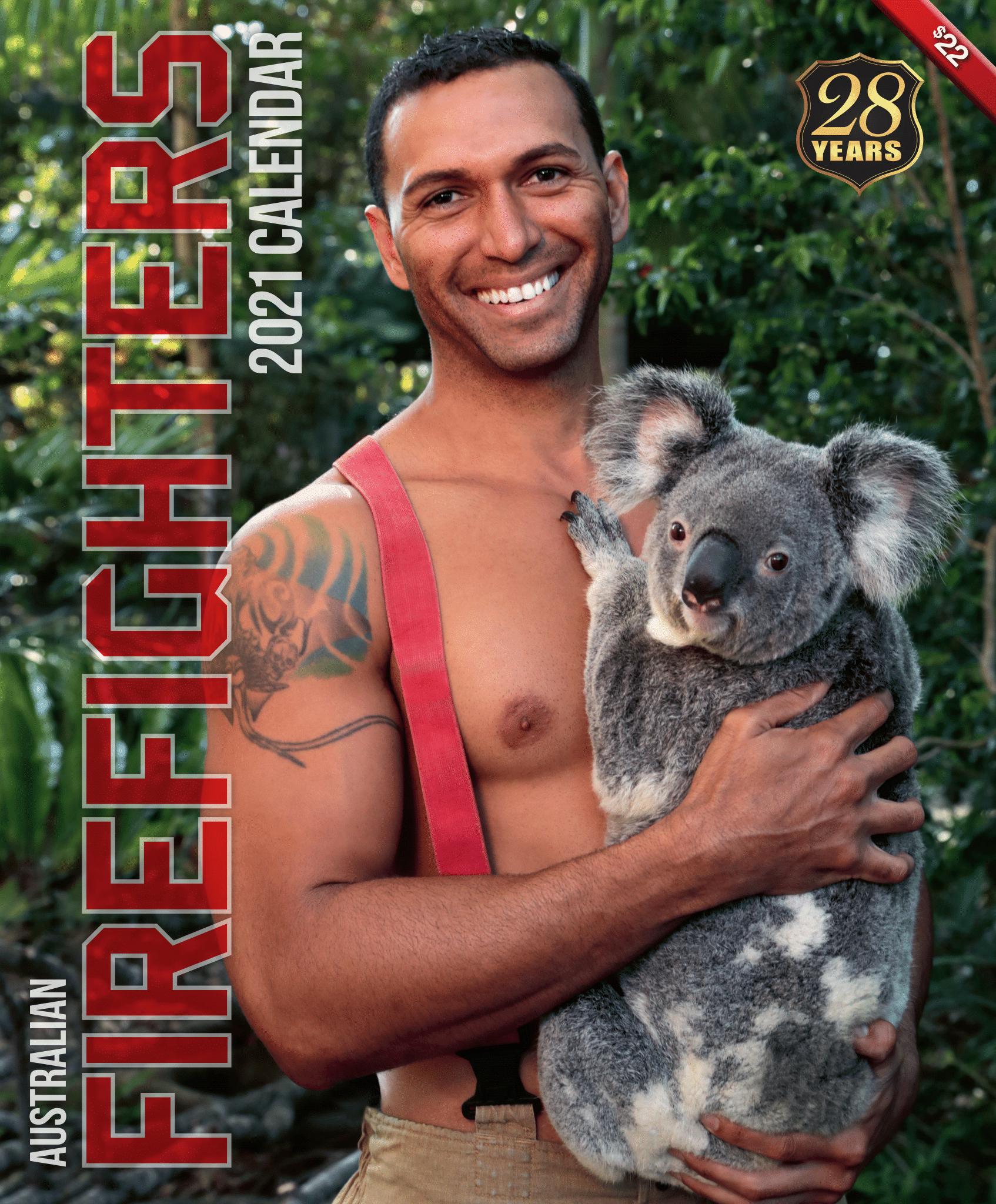 Голый торс и коала: австралийские пожарные снялись для нового календаря - фото 16