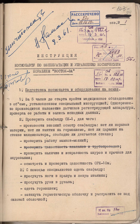 День космонавтики: стало известно по какой инструкции Юрий Гагарин отправлялся в космос (Фото) - фото 3