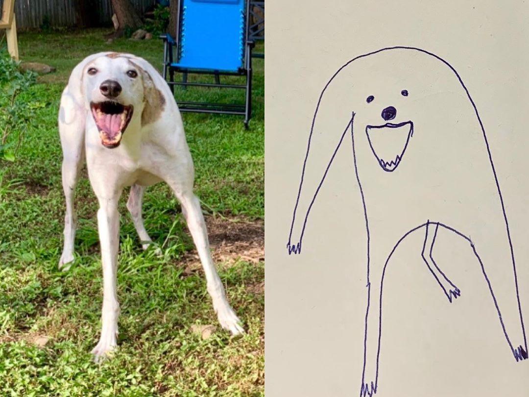 Художница прислала на конкурс рисунков абсолютно нелепый набросок любимого пса, и победила - в чем секрет - фото 5