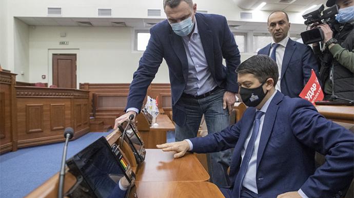 Кличко поучил Разумкова правильно голосовать (фото) - фото 2