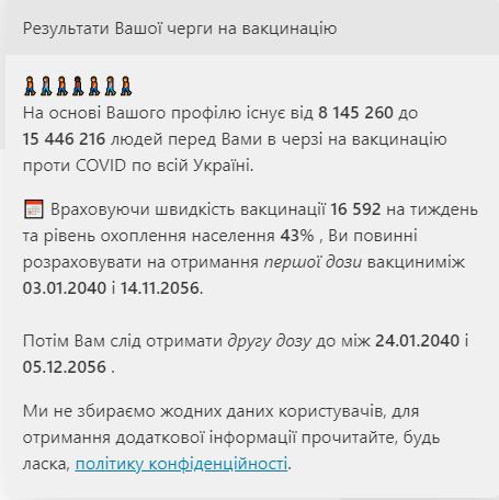 Калькулятор очереди: украинцам предлагают вычислить дату своей вакцинации от коронавируса - фото 5