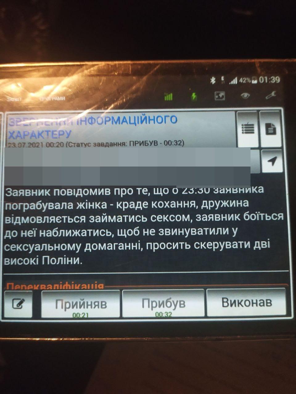 Отказалась заниматься сексом: во Львове мужчина вызвал полицию для  своей жены  - фото 2
