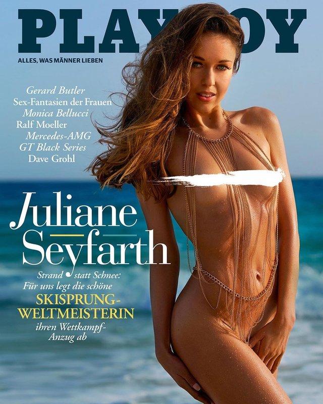 Немецкая прыгунья с трамплина Юлиане Зайфарт обнажилась для Playboy - фото 2