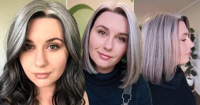 Дівчина, яка почала сивіти в 13 років, перестала фарбувати волосся: як вона виглядає зараз - фото 2
