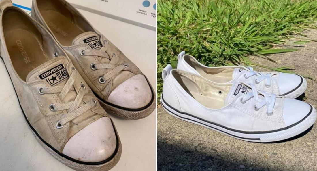Женщина показала дешевый способ очистить белую обувь (Фото) - фото 2