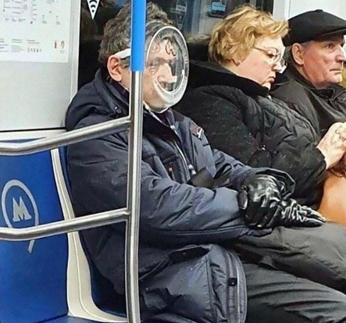 Фантазия или глупость: смешные фото, которые показывают, на что люди готовы, чтобы не носить маски - фото 2