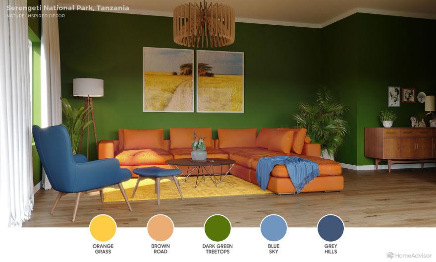 Дизайн гостиной по мотивам захватывающих пейзажей: 6 потрясающих фото - фото 13