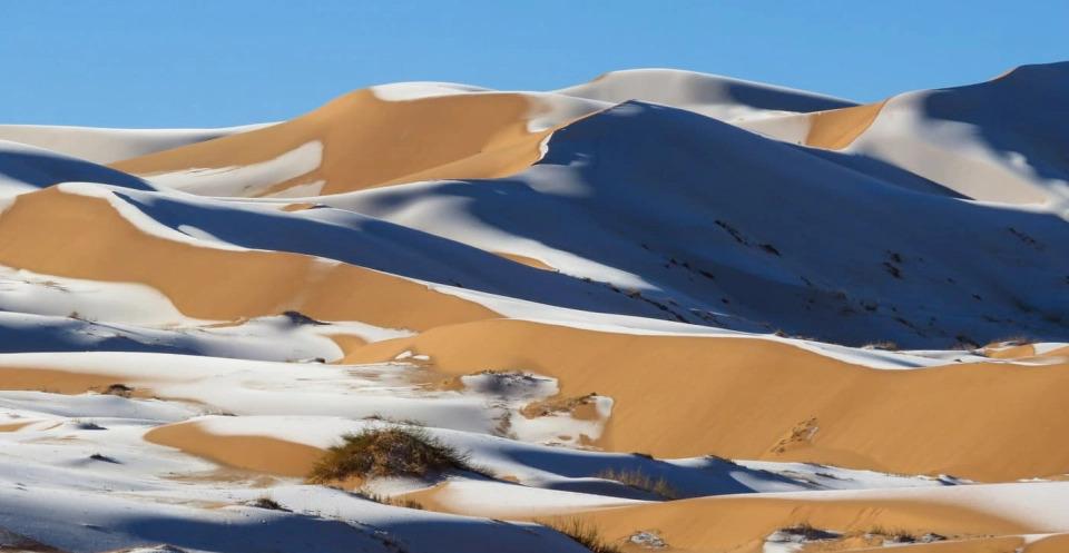 В Сахаре выпал снег — удивительные фото морозной пустыни - фото 6