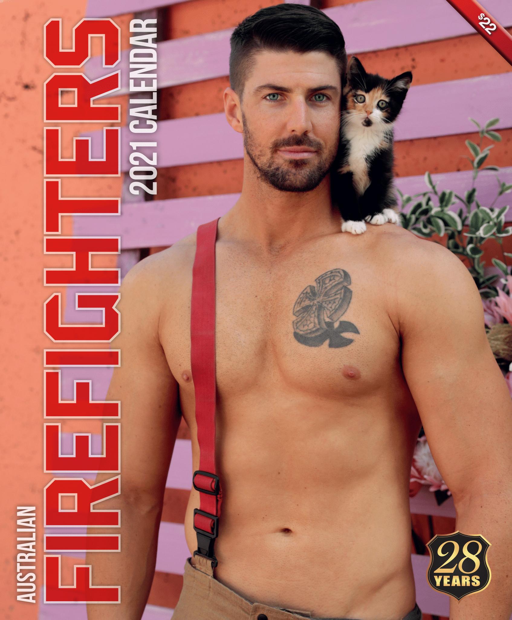 Голый торс и коала: австралийские пожарные снялись для нового календаря - фото 7