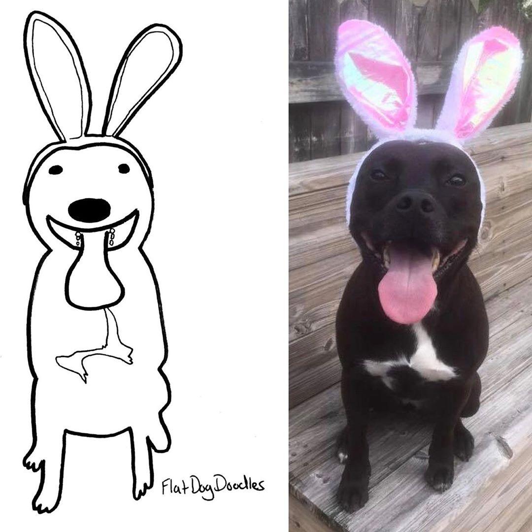 Художница прислала на конкурс рисунков абсолютно нелепый набросок любимого пса, и победила - в чем секрет - фото 3