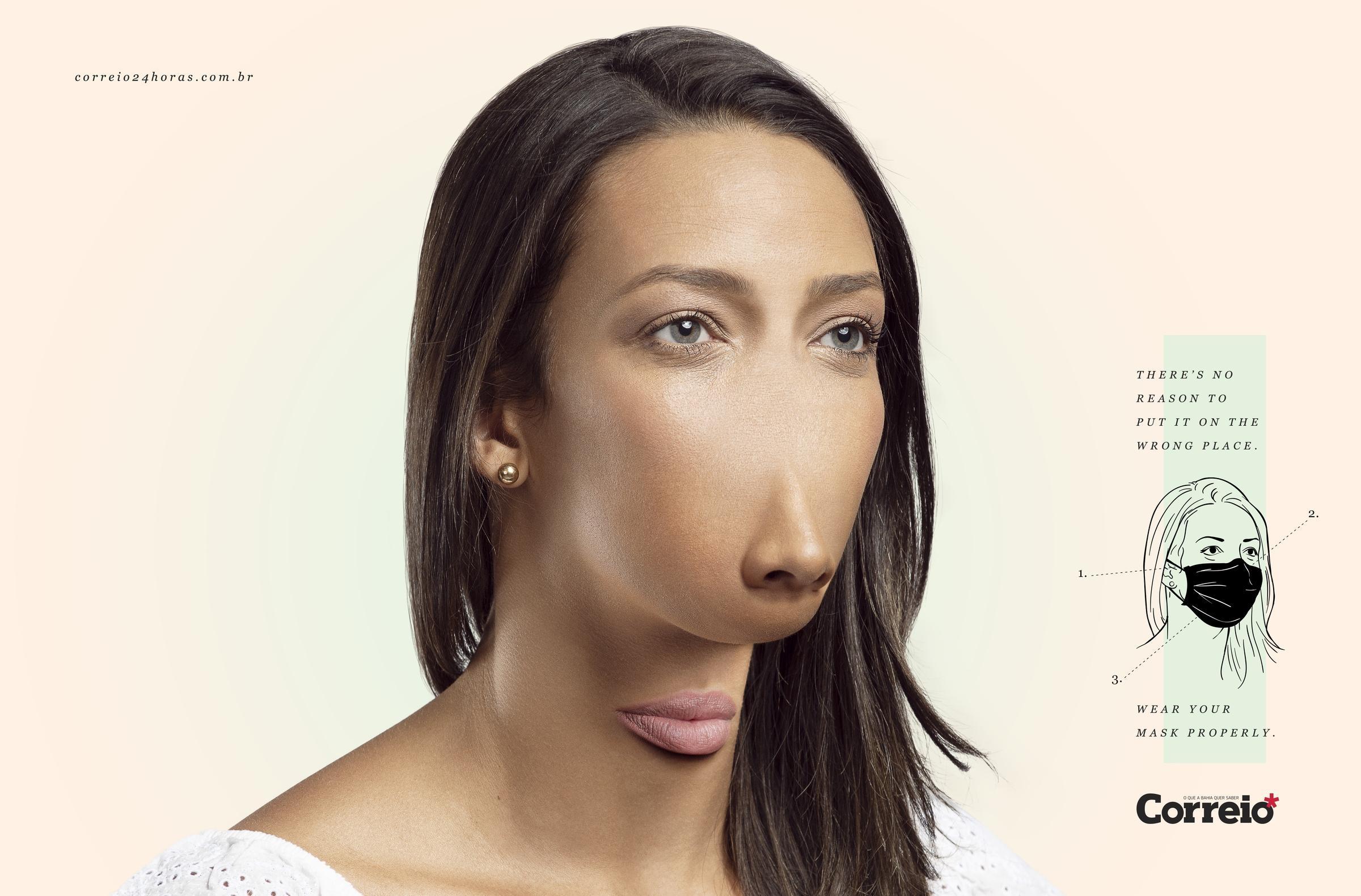 ФОТОФАКТ: социальная реклама в Бразилии метко высмеяла людей, которые носят маску на подбородке - фото 2
