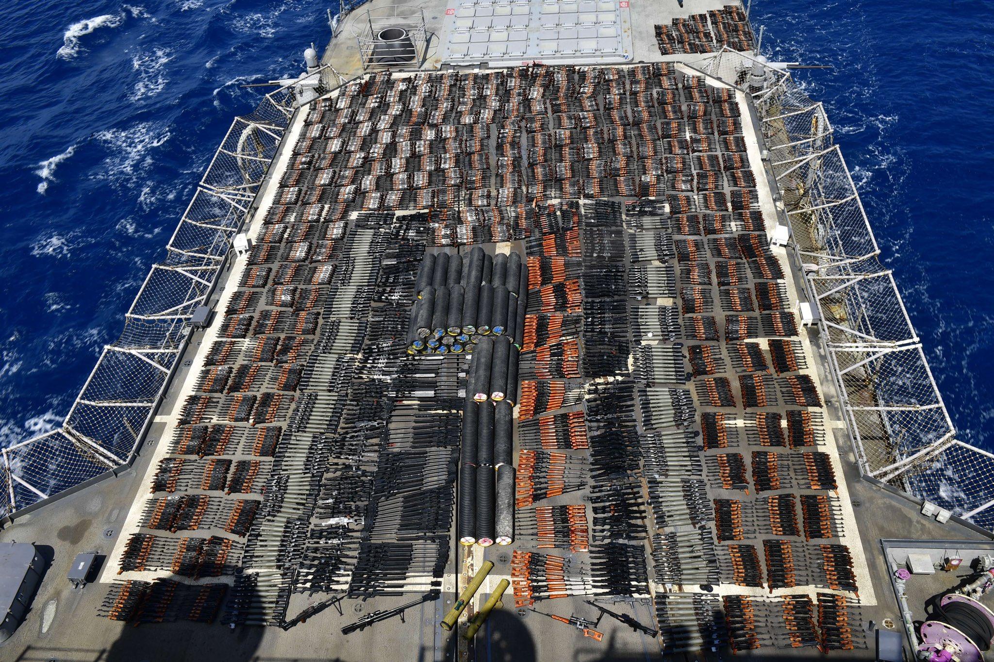 Американские военные задержали судно с крупной партией российского оружия - детали (Фото) - фото 2