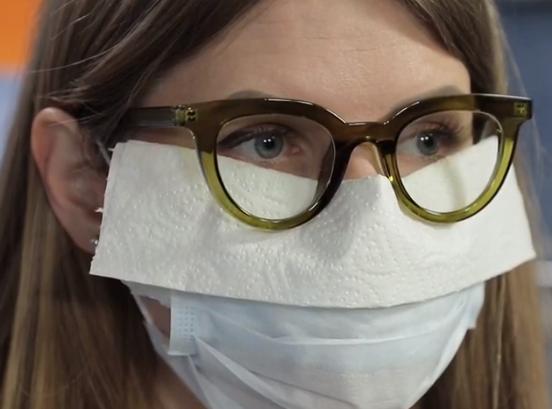"""Сім Лайфхак для """"очкариків"""" - як носити маску, щоб окуляри не запотівали - фото 3"""